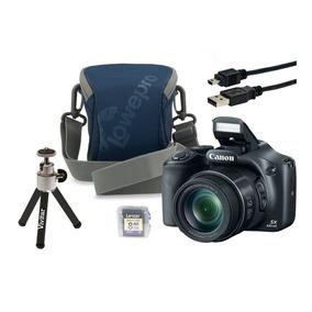 Câmera Canon Sx530 Hs C/ Estojo, Tripé E Cabo Usb