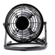 Ventilador Usb Portátil, Ajustable Ligero Silencioso, Negro