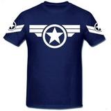 d2c4a6463b Camisa Capitao America Marvel Steve Rogers Guerra Vingadores
