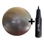 Pelota Esferodinamia De 75 Cm + Inflador Fit Gym Ball Pilates Yoga