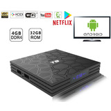 Tv Box Smart Android 8.1 Hdmi 4k 4 Gb Ram 32 Gb Bt Netflix