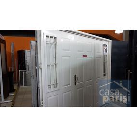 Porton/garage/abrir Inyectado Chapa C/postigos 2,40 X 2,00