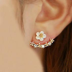 Brinco Feminino Ear Cuff Ear Jacket Flor Envio Imediato