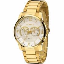 Relógio Technos Masculino Dourado 6p25an/4k Wr 50 Metros /