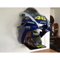 Porta Cascos Decorartivo De Pared Valentino Rossi Replica