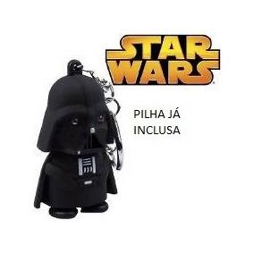 Chaveiro Chave Star Wars Darth Vader Com Led Luz E Som