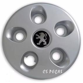 Calota Peugeot Boxer Centro Roda Prata Aro 16 Com Emblema