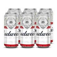 Budweiser . Cerveza . 473ml X 6 - Tomate Algo® -