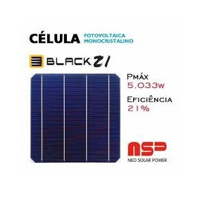 Célula Solar Silicio Monocristalino 20,6% Grau A 156*156