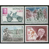 Mónaco 4 Sellos Mint Henry Ford = Ciclismo = Coubertin 1963