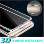 3d Vidrio Templado Borde Metal Iphone 7/7plus Alta Gama