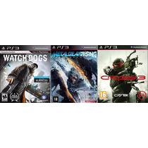 Combo Jogos Crysis 3+metal Gear Rising+watch Dogs Ps3