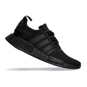 Tênis adidas Nmd Triple Black R1 Boost Pk Originals + Brinde
