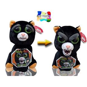 Peluche Mascota Gato Negro Feisty Pets Enojon Gruñon Cf