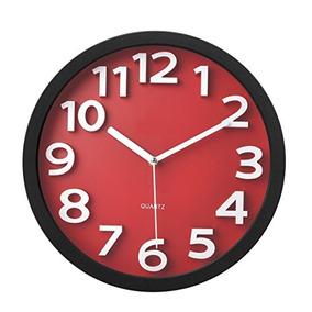 Reloj De Pared Contemporáneo Tempus Tc R Con Números Contra