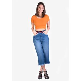 Calça Jeans 100% Mom Cropped