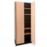 Biblioteca Platinum 429/03 2 Puertas Altas Negro Haya