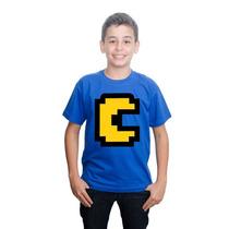 Camiseta Camisa Minecraft Pacman Algodão
