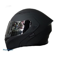 Casco Abatible R7 Rancing Unscarred Doble Mica Negro Mate