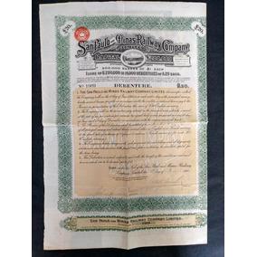 Apólice San Paulo And Minas Railway Company Ano 1908