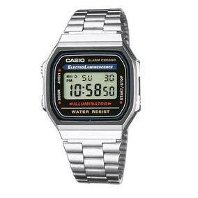 60efc52c9d1 Relógio Casio Feminino Prata Retro Vintage Alarm Luz Oferta