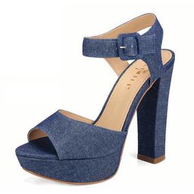 Zapatillas Para Dama Lili Mill Negro,ladrillo Y Azul Demin