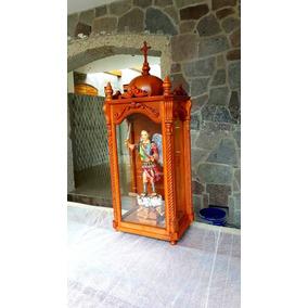 Escultura San Miguel Arcángel Tallado En Madera