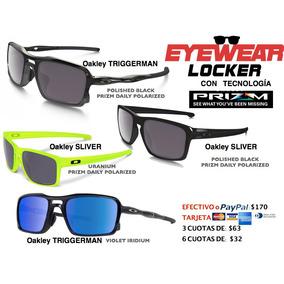 Gafas Oakley Polarizadas Prizm, Triggerman, Sliver, Original