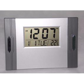 Relógio De Mesa Ou Parede Digital Data/hora Prata