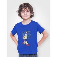 Poleras Sonic Estampadas Personalizadas Unisex