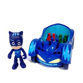Pj Masks - Menino Gato E Seu Veículo - Herois De Pijama