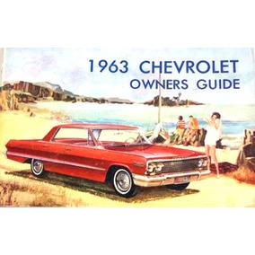 Automóvel - Chevrolet 1963 Ok! Ótimo Manual Do Proprietário