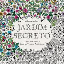 Livro Colorir Adulto Antiestresse - Jardim Secreto #