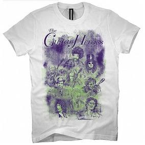 Camiseta Heróis Da Guitarra 100% Algodão Clássicos Do Rock 6ecf17cdce2