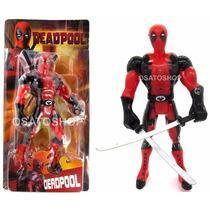 Boneco Deadpool Articulado C/ Espada Marvel Filme 26cm
