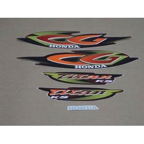 Kit Adesivos Honda Cg Titan 125 Ks 2001 Vermelha