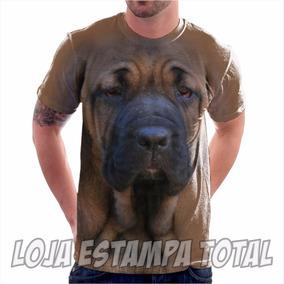 Camiseta 3d Fila Brasileiro - Camisa Estampa Total Cachorro