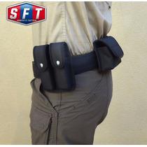 Porta Cargador De Pistola Doble Termoformado Negro S F T ®