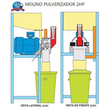 Planos Construccion Molino Pulverizador Maiz 2 Hp + Receta