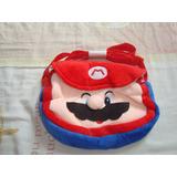 Bolsito De Mario Bros Para Niño O Niña, En Tela De Peluche.