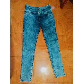 Pantalon Jean Corte Talle Alto Strech Moda Faja Glúteos