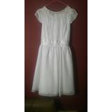 Vestido Blanco Primera Comunion Fiesta Cortejo Talla 16