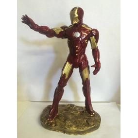 Boneco Homem De Ferro Iron Man Em Resina Super Herói