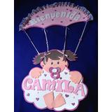 Letreros Baby Shower Nacimiento Bienvenido En Foami!!