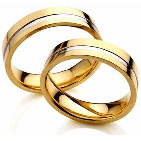 Par Alianca Ouro Branco Friso - Alianças de Casamento no Mercado ... 03190b27a0