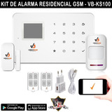 Kit Alarma Residencial Hogar Local Gsm Facil Instalacion App