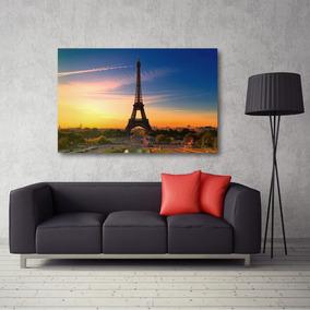 Quadro Decorativo Paris Torre Eiffel Com Tela Em Tecido