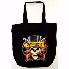 Bolsa Pano Tecido Guns N Roses Axl Slash Preta Nylon Oferta