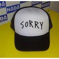 Boné Sorry Justin Bieber Trucker Cap Estampa Em Silk