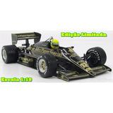 Miniatura 1:18 F1 Lotus Renault 97t Ayrton Senna 1985 Em 12x